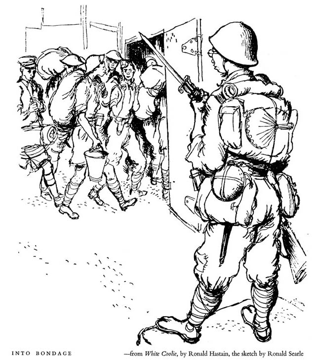 Ronald Searle wartime art