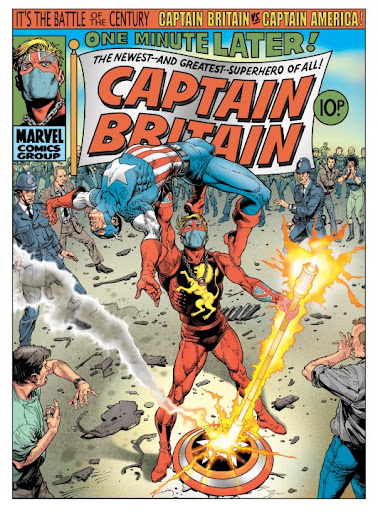 Image result for captain britain and captain america