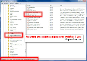Aggiungere programmi predefiniti in Windows Vista