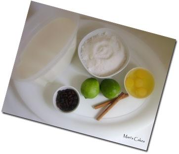 los ingredientes para dulce de leche cortada