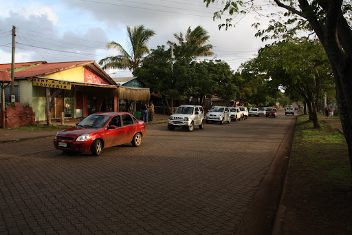 The main drag in Hanga Roa