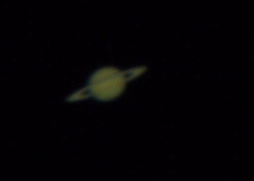 The only picture we have from our star tour.  Saturn!