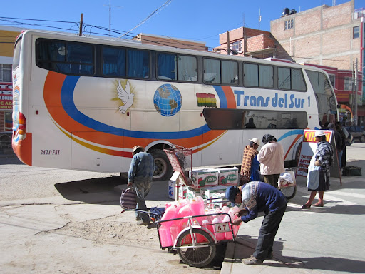 Our first Bolivian bus.  Villazón to Tupiza.