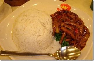 Nasi Cah Terong Daging