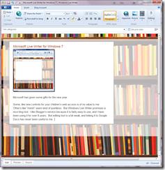 Microsoft Live Writer for Windows 7 - Windows Live Writer 03012011 161606