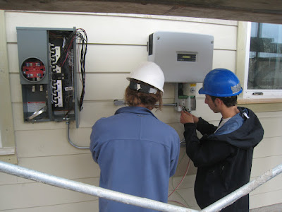 Installing a traditional inverter.