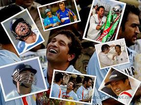 Wallpaper of Sachin Tendulkar in light moments, laughing...