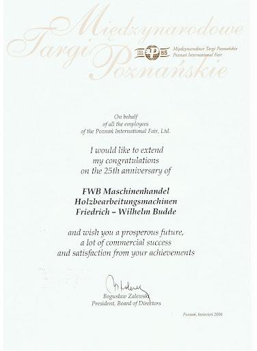 Targi Poznanski Glückwünsche