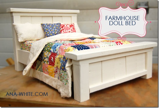 Farmhouse doll bed tutorial