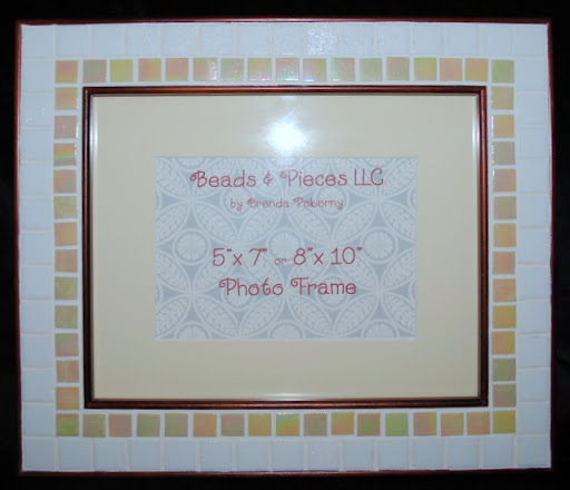 Tan & White Sleek Mosaic Photo Frame MOF1217