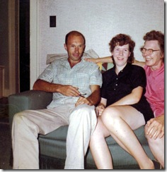 Kay and Robert Mannel with Lillian - Sept 1963
