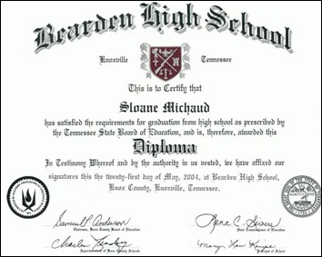 Sloane's Diploma (Small)