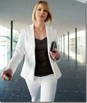 woman walking gracefully