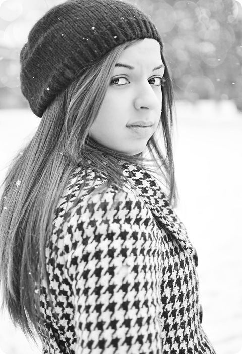sarah in the snow