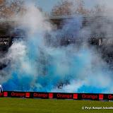 Un stade en bleu et blanc