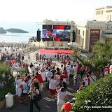 La fin du match vide l'esplanade et remplit la plage