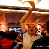 Samedi il y avait même un supporter allemand heureux