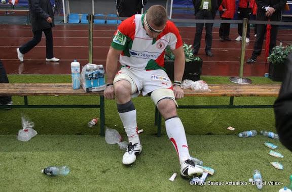 Imanol toute la détresse du Biarritz Olympique...