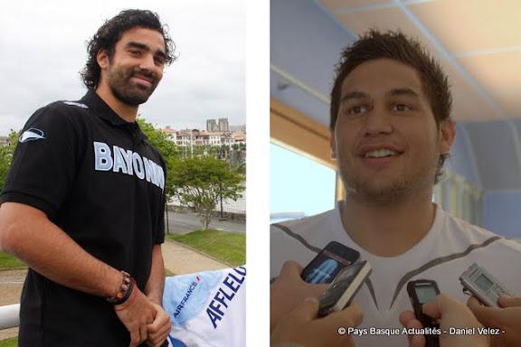 Yoann Huget et Raphael Lakafia
