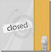 porta fechada