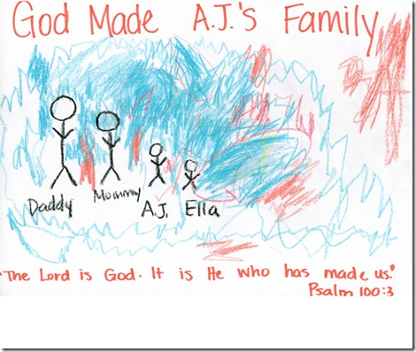 God made aj's family