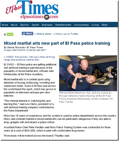 Police train in Mixed Martial Arts