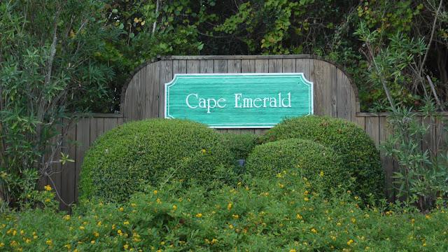 entrance sign - Cape Emerald a gated subdivision in Emerald Isle North Carolina