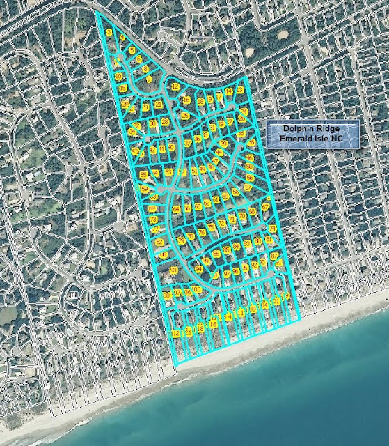 aerial map - Dolphin Ridge - Emerald Isle North Carolina