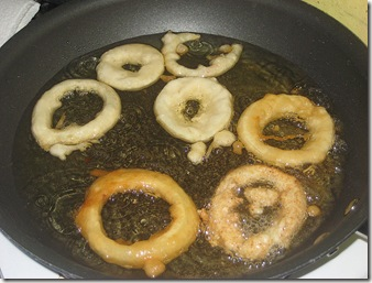 11 Onion rings in oil