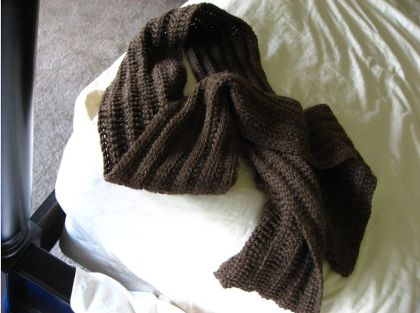 Ribbed Scarf Pattern. Tunisian Ribbed Scarf Pattern