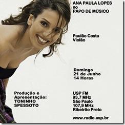ANA PAULA LOPES - Papo de Músico (USP FM) - 21-6-2009