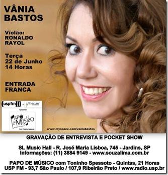 VÂNIA BASTOS - Papo de Músico (USP FM) - 22-6-2010