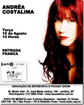 ANDRÉA COSTALIMA - Papo de Músico (USP FM) - 10-8-2010