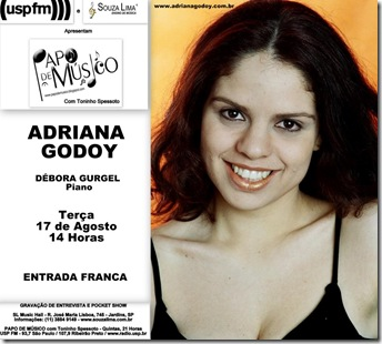 ADRIANA GODOY - Papo de Músico (USP FM) - 17-8-2010