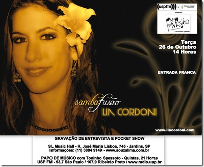 LIA CORDONI - Papo de Músico - 26-10-2010