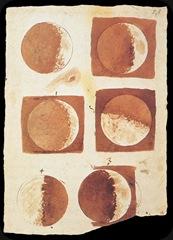 Fases da Lua, desenho de galileu