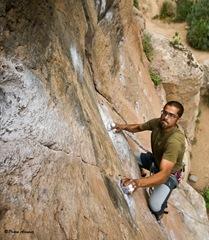 Escalando en Arico13