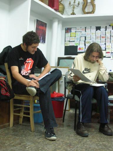 Gonzalo y Gon en una escena