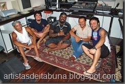 Dinho, Zé Luiz baixo, Alisson vocal, Charles geral, Silvano Guita Galera que gravou Santo Graal