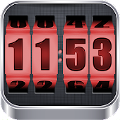 APK App 3D Rolling Clock RED for iOS