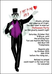 Photo Halloween Invitation