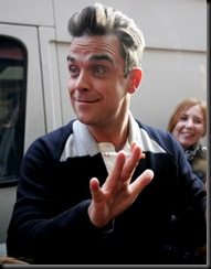 #3999114 Robbie Williams seen outside the Royal Albert Hall today having a cigarette break during rehearsals for the BBC Children in Need concert in London, UK on November 12, 2009.