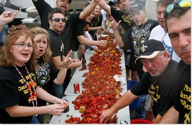 A Who Dat Crawfish Boil