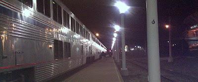 Amtrak train at Cleveland Station