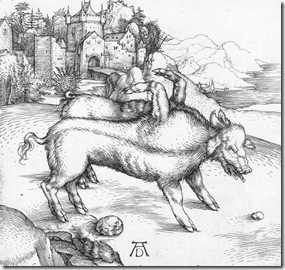 9b-1498_Alberto Durero_la cerda monstruosa