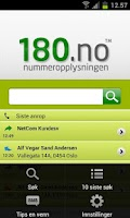 Screenshot of 180.no Mobilsøk + Gratis
