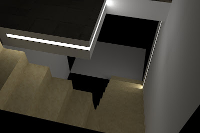 La nostra casetta illuminazione scala mansarda