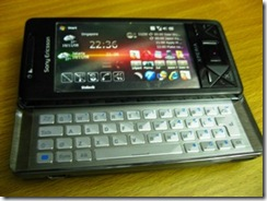 1005 - Sony Ericsson Xperia X1 with sliding keyboard
