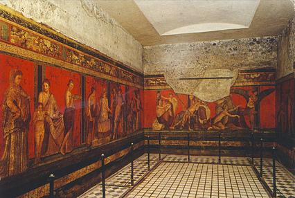 Villa of the mysteries ad79eruption for Ancient mural villa