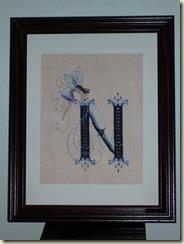 Nora's Letter N Framed 12-26-09
